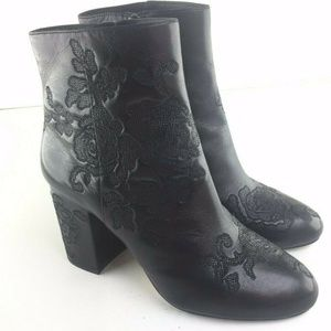 Michael Kors Floral Zippered Boots 9 RARE